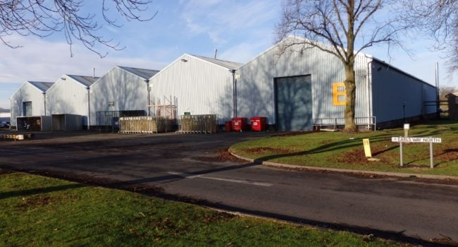 The outside of a warehouse unit, Unit B at Kingmoor Park