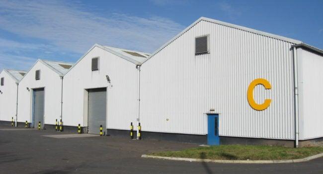 The exterior of Unit C at Kingmoor Park