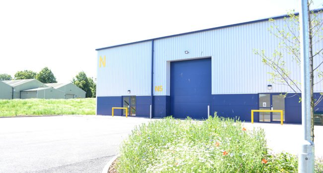 Exterior of a warehouse unit at Kingmoor Park