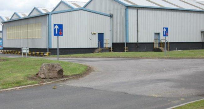 The exterior of a warehouse unit, Unit C2 at Kingmoor Park