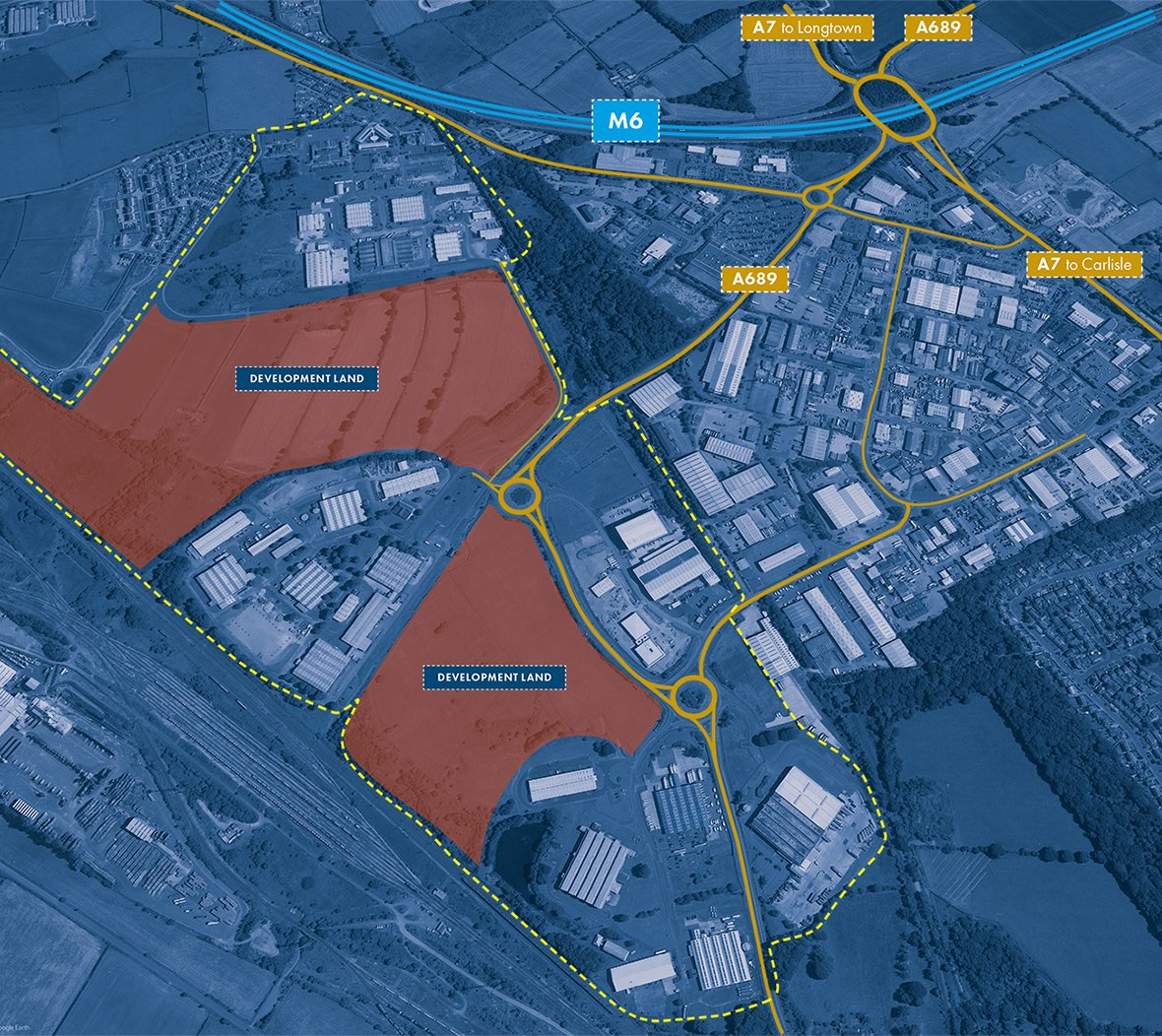 Map of Kingmoor Park site