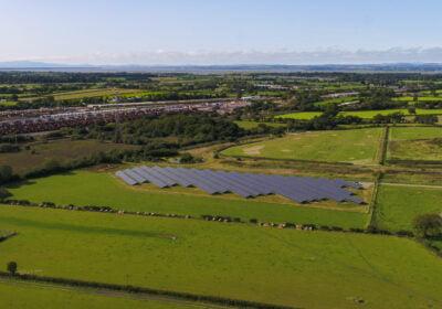 Solar farm at Kingmoor park in Carlisle