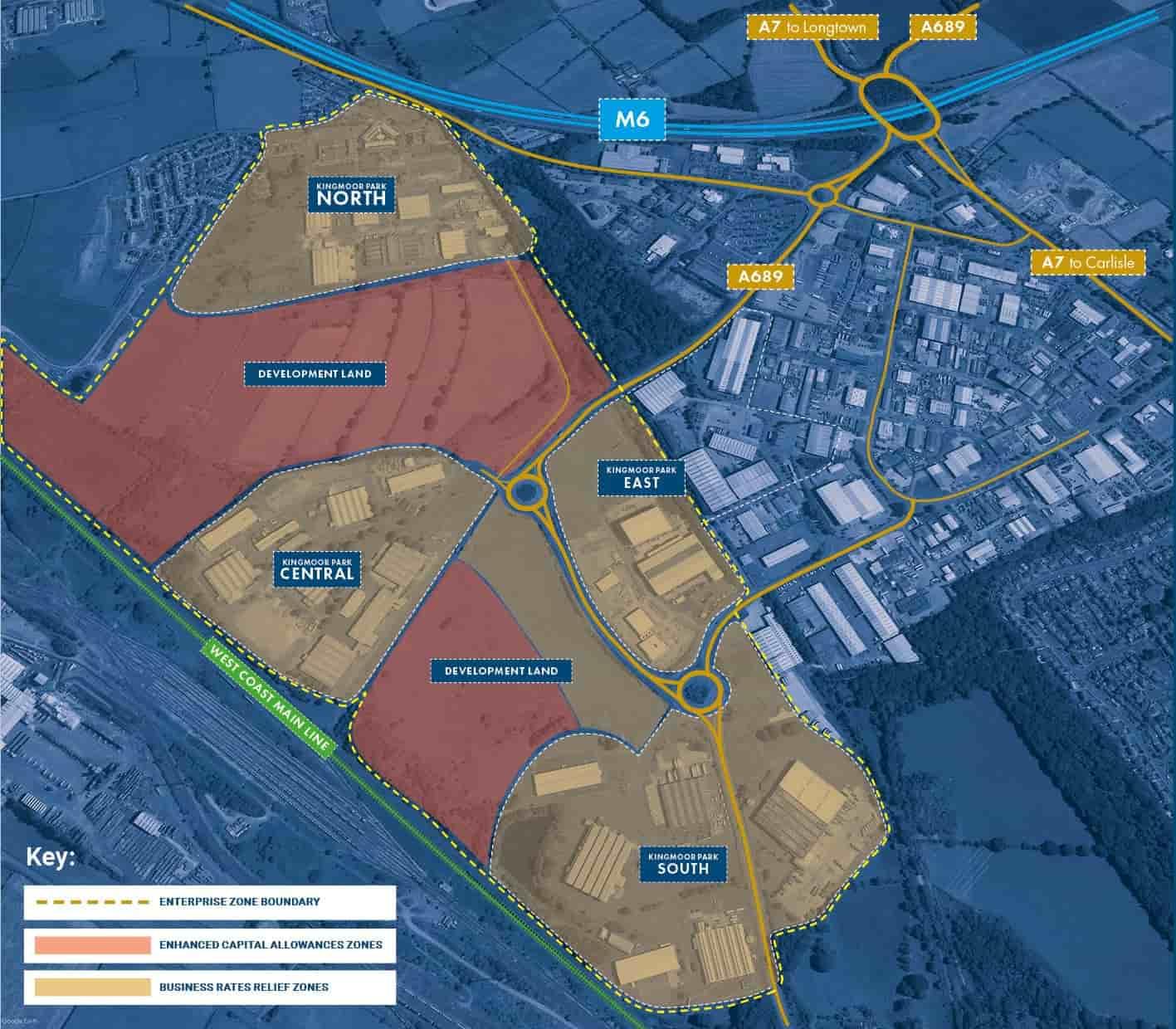 Kingmoor Park Map